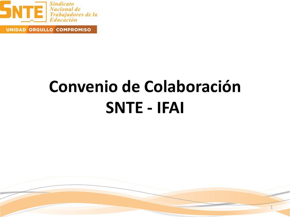 Convenio de Colaboración SNTE - IFAI 1