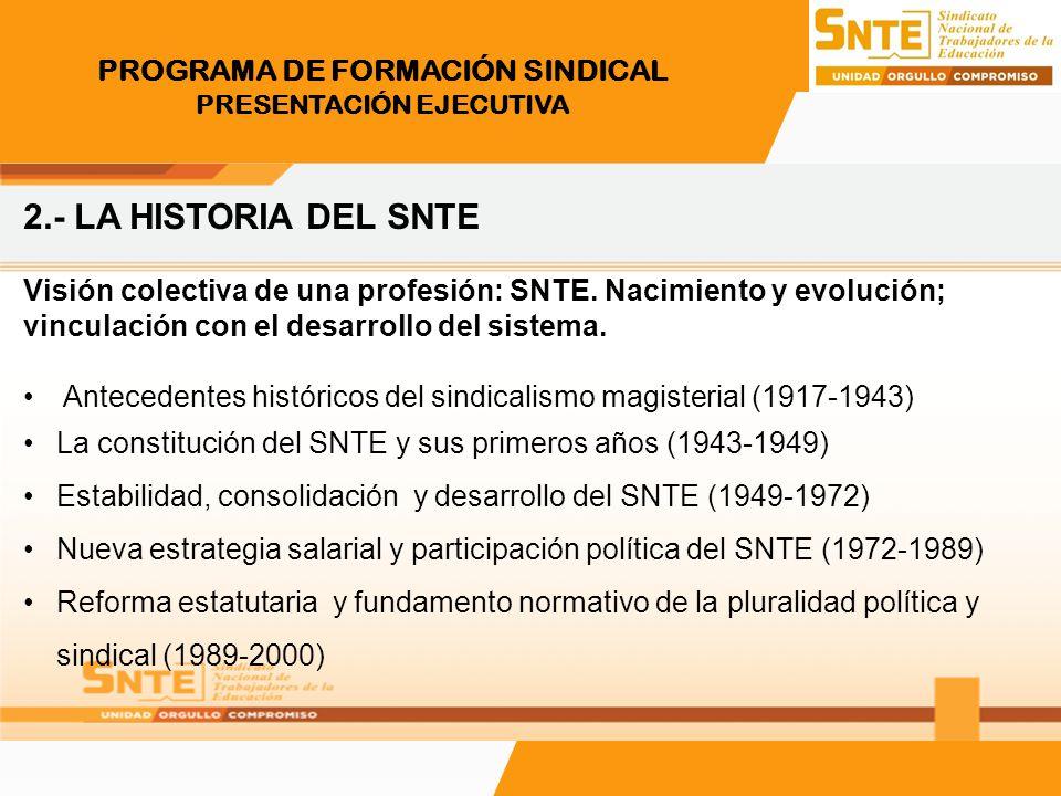 PROGRAMA DE FORMACIÓN SINDICAL PRESENTACIÓN EJECUTIVA 8.- Comunicación Comunicación Interna.
