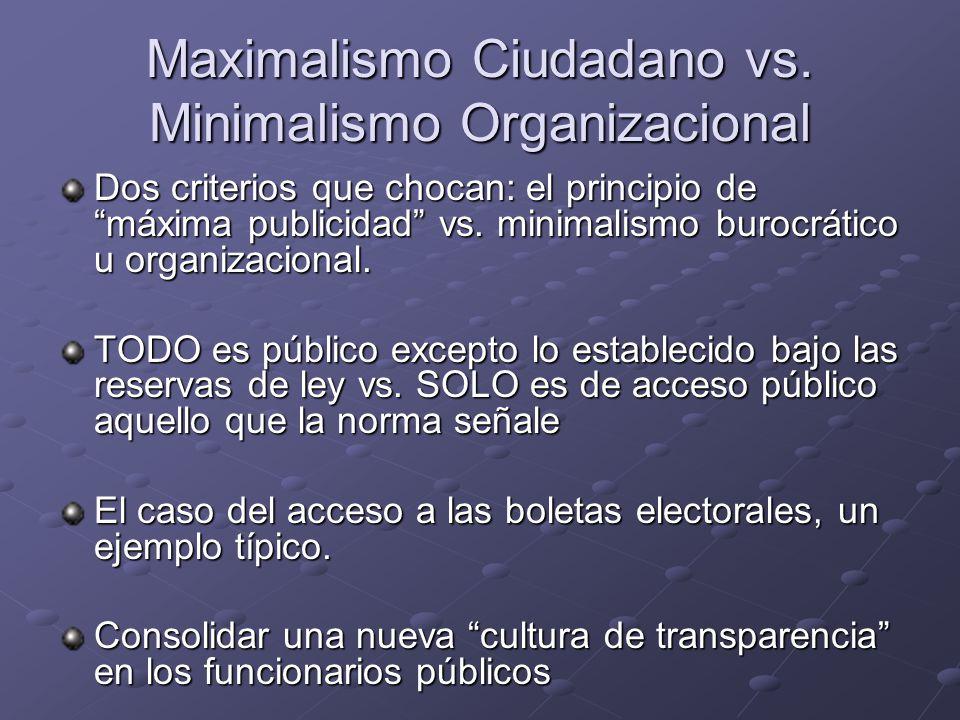 Maximalismo Ciudadano vs.