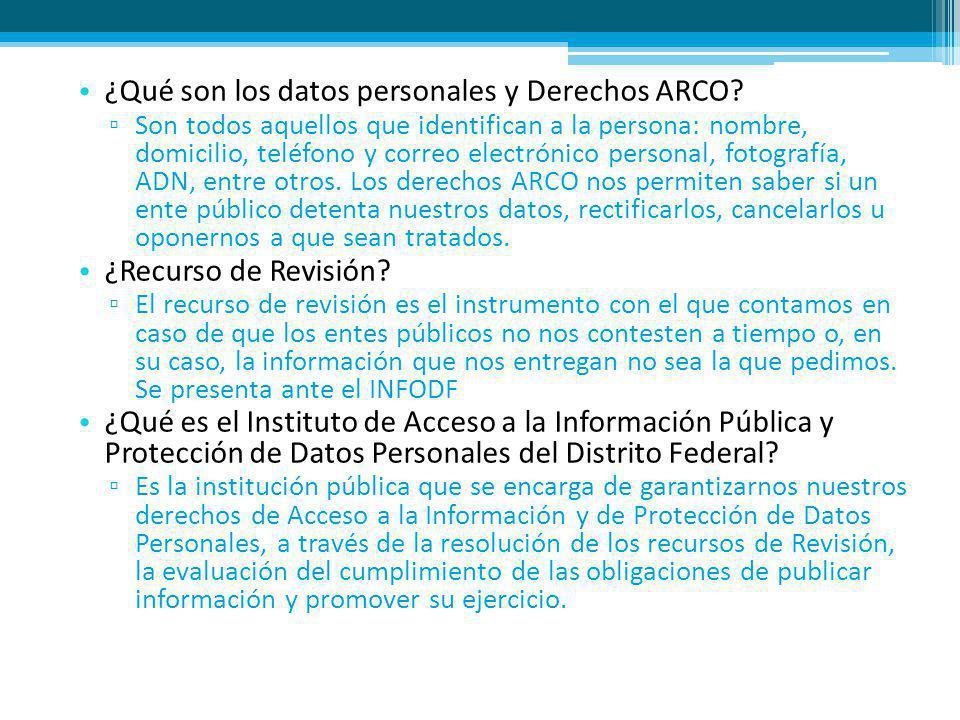 ¿Qué son los datos personales y Derechos ARCO.
