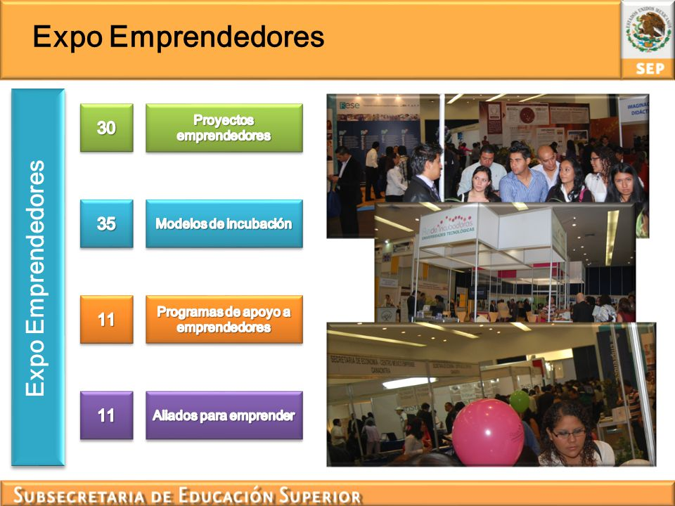 Certamen Emprendedores Se recibieron 315 proyectos, los cuales fueron evaluados en línea por un grupo de especialistas en temas de incubación de negocios.
