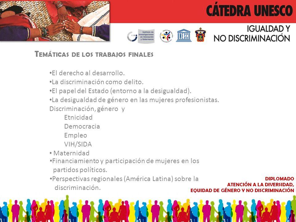 DIPLOMADO ATENCIÓN A LA DIVERSIDAD, EQUIDAD DE GÉNERO Y NO DISCRIMINACIÓN Financiamiento y participación de mujeres en los partidos políticos.
