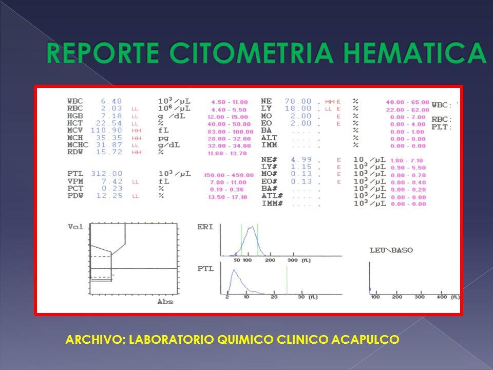 ARCHIVO: LABORATORIO QUIMICO CLINICO ACAPULCO