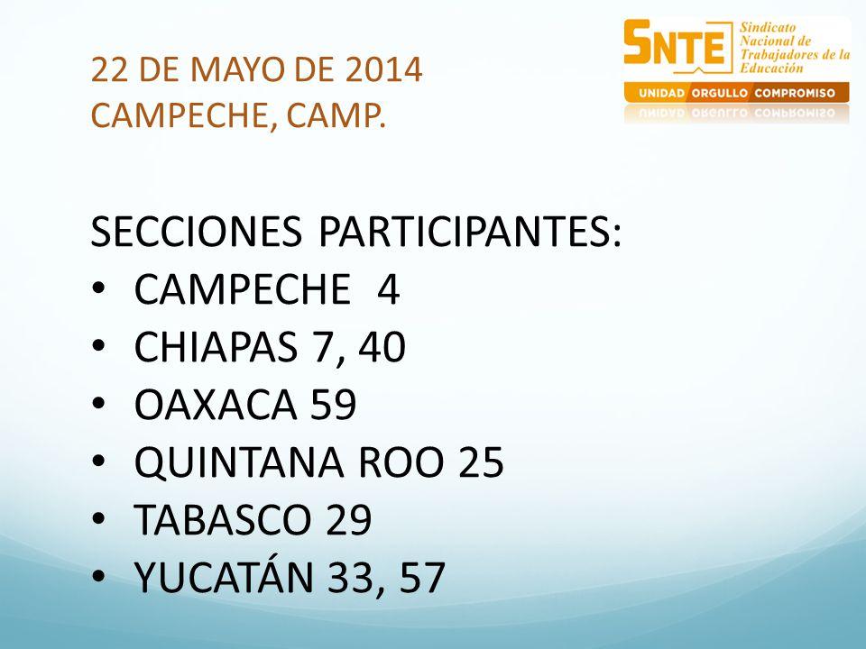 22 DE MAYO DE 2014 CAMPECHE, CAMP.
