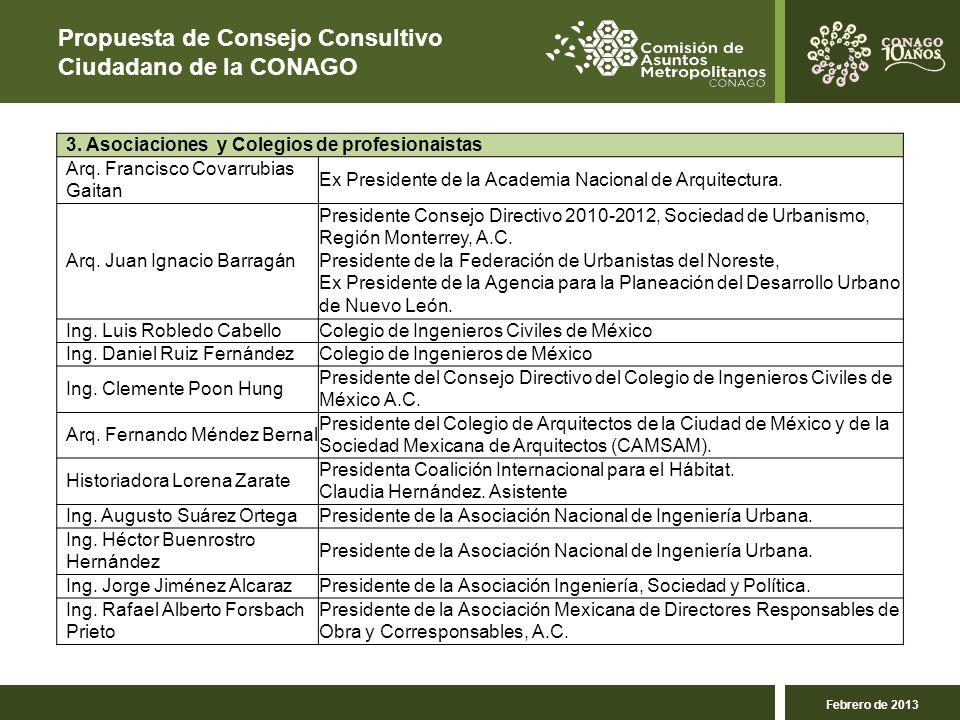 Propuesta de Consejo Consultivo Ciudadano de la CONAGO 3.