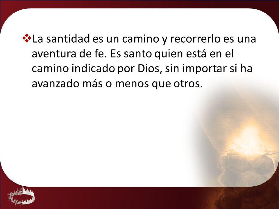 La santidad es un camino y recorrerlo es una aventura de fe. Es santo quien está en el camino indicado por Dios, sin importar si ha avanzado más o men