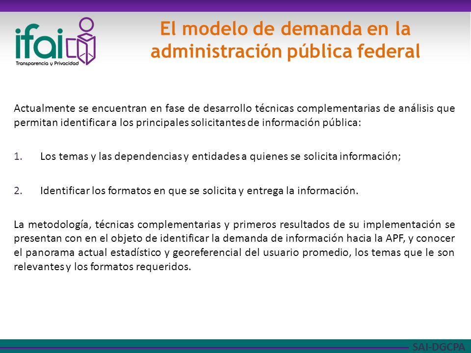 SAI-DGCPA Factor geográfico: municipal y/o delegacional Factor económico.