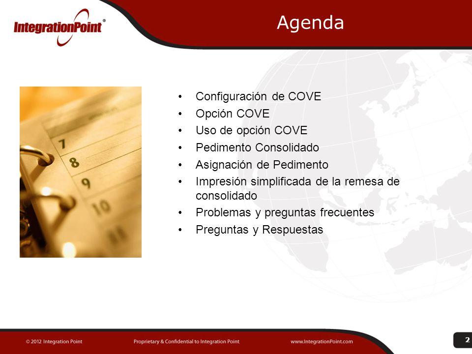 Configuraciones COVE 3 Mantenimiento de Representantes debemos alimentar la información para uso del Web Service para COVE.