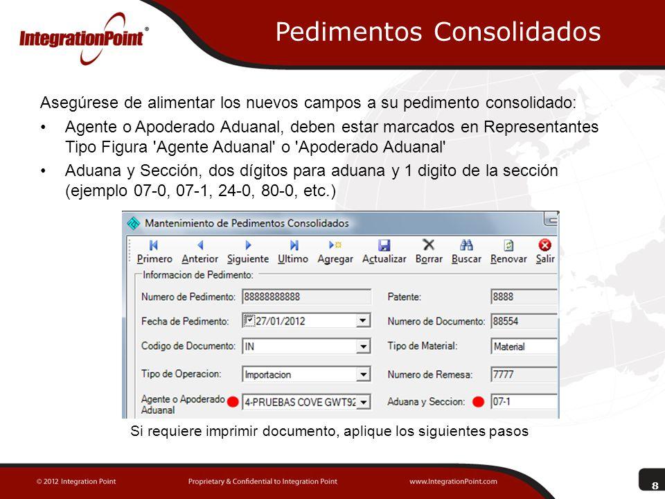 Asignación de Pedimento En la opción COVE seleccionar Asignar Pedimento , le mostrara la pantalla para la asignación de pedimento/remesa.