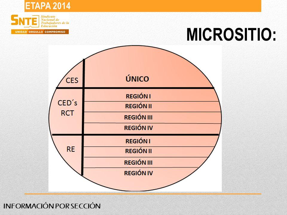 MICROSITIO: ETAPA 2014 INFORMACIÓN POR SECCIÓN