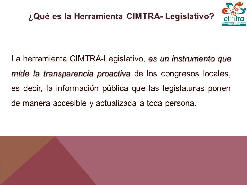 El CIMTRA-Legislativo evalúa lo que, desde la perspectiva ciudadana, se considera es información relevante que debe ser publicada bajo el principio de máxima publicidad.