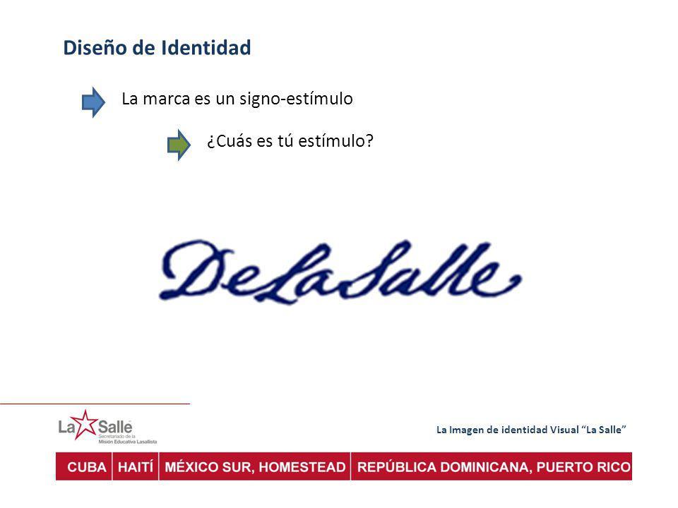 La Imagen de identidad Visual La Salle Diseño de Identidad La marca es un signo-estímulo ¿Cuás es tú estímulo?