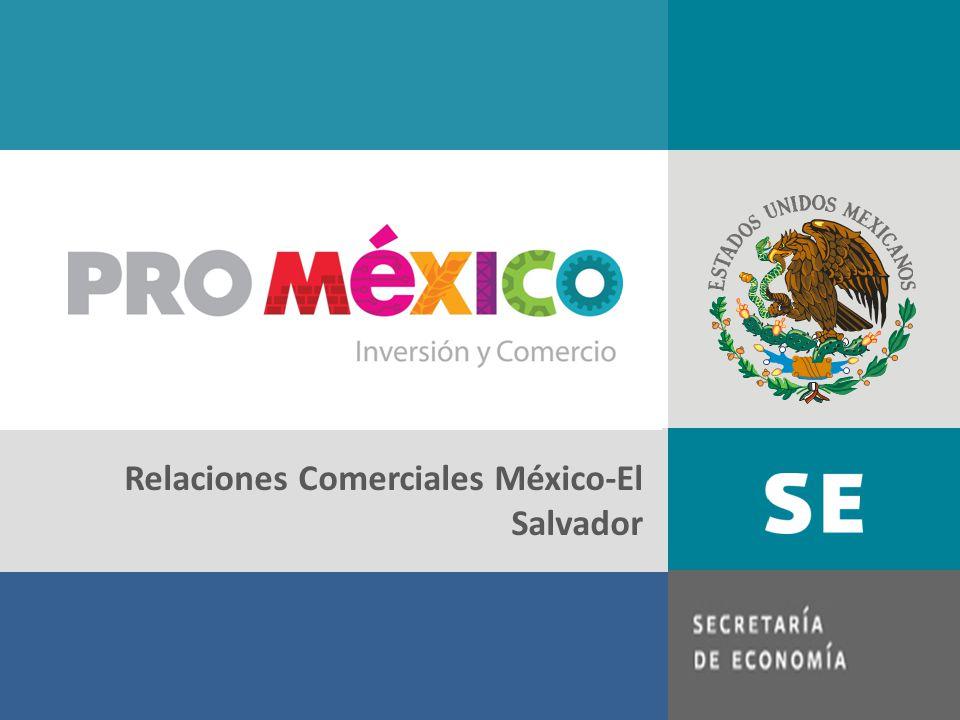 1.Contexto mundial y regional 2.Relación de comercio bilateral México – El Salvador 3.Inversión Extranjera Directa 4.Relaciones y Acuerdos Bilaterales 5.Oportunidades de Comercio de El Salvador en México 6.Oportunidades de Comercio de México en El Salvador Contenido: