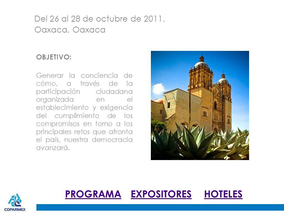 Fecha 26, 27 y 28 de octubre. Sede Oaxaca, Oaxaca.