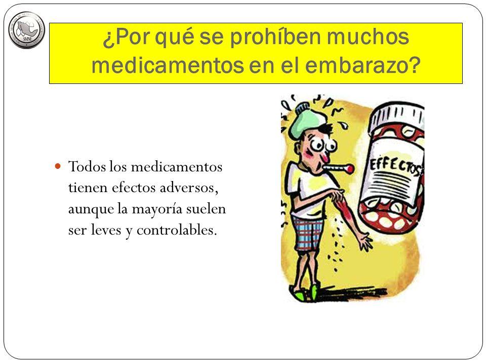 ¿Por qué se prohíben muchos medicamentos en el embarazo? Todos los medicamentos tienen efectos adversos, aunque la mayoría suelen ser leves y controla