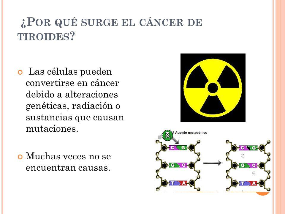 ¿P OR QUÉ SURGE EL CÁNCER DE TIROIDES .