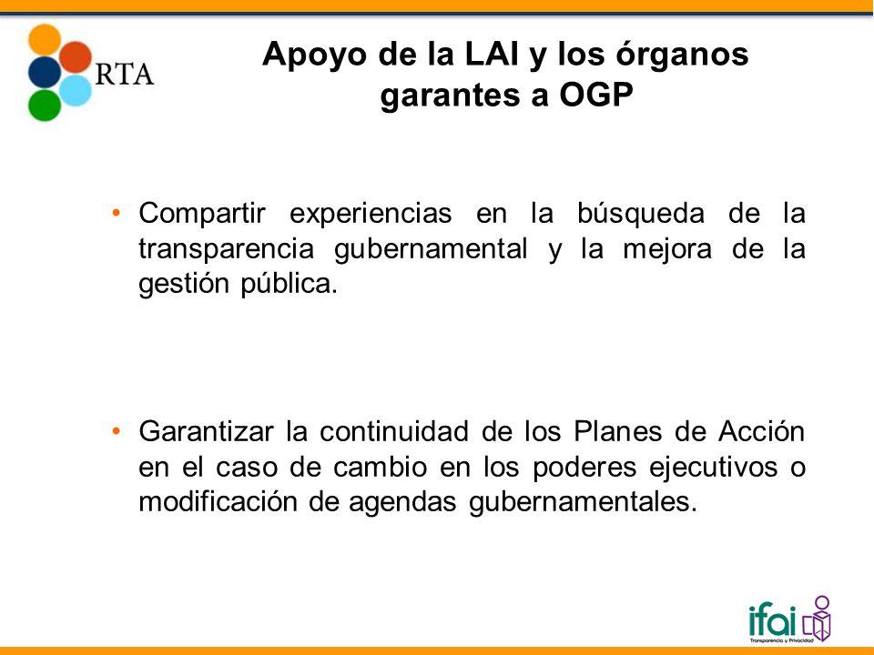 Compartir experiencias en la búsqueda de la transparencia gubernamental y la mejora de la gestión pública.