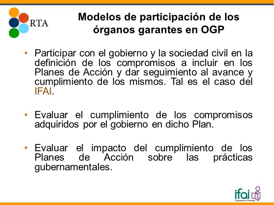 Participar con el gobierno y la sociedad civil en la definición de los compromisos a incluir en los Planes de Acción y dar seguimiento al avance y cum