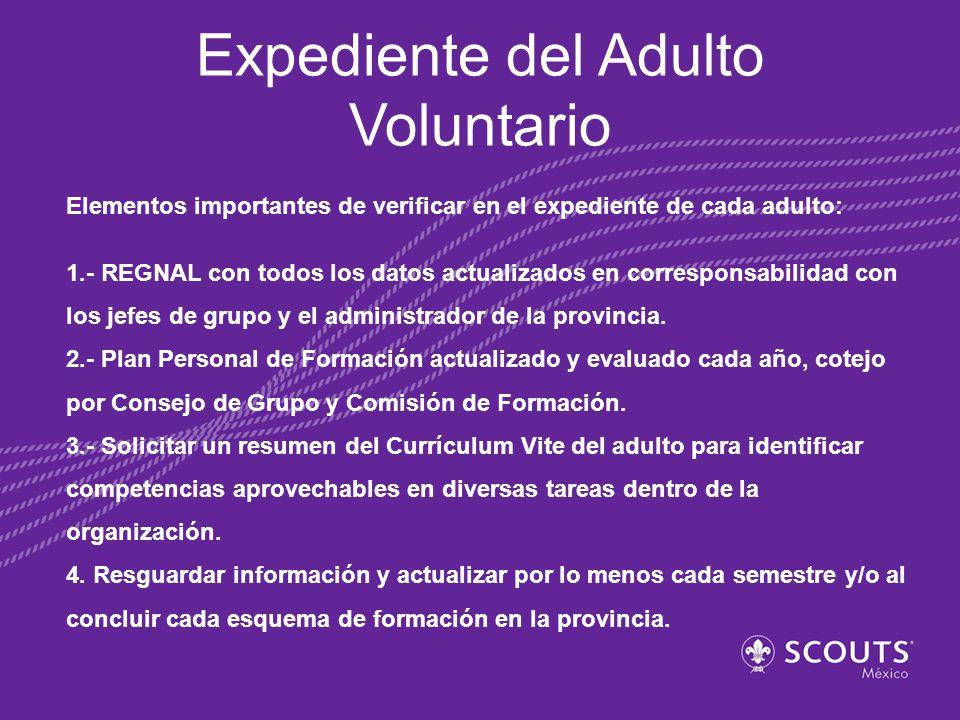 ¿Qué hacer con la información recopilada de los adultos voluntarios.
