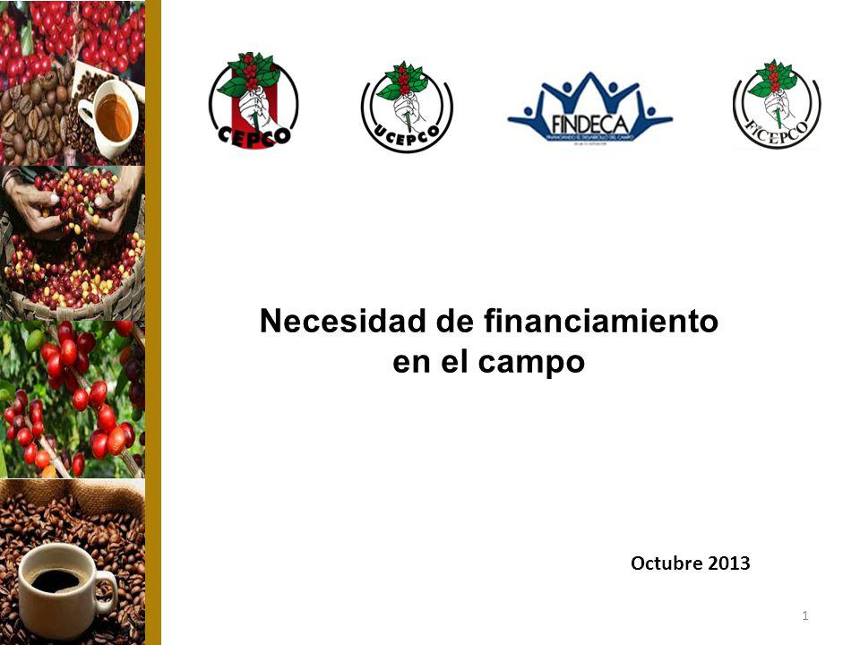 1 Necesidad de financiamiento en el campo Octubre 2013