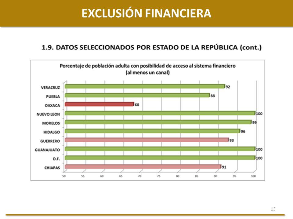 13 EXCLUSIÓN FINANCIERA