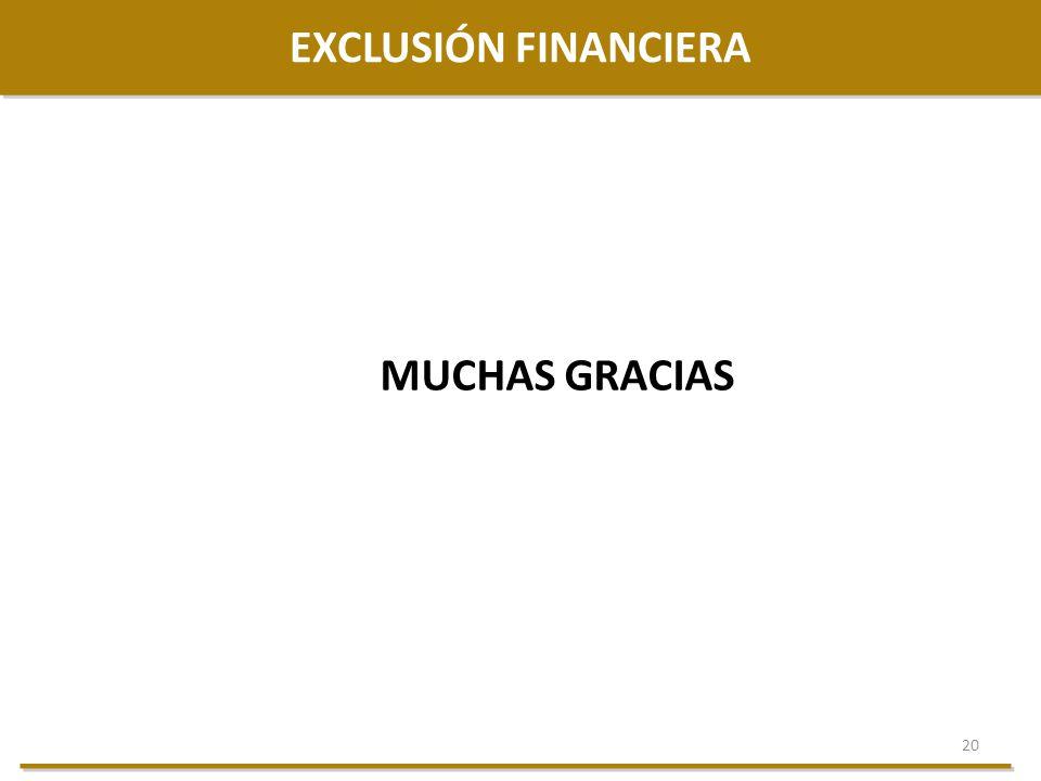 20 EXCLUSIÓN FINANCIERA MUCHAS GRACIAS