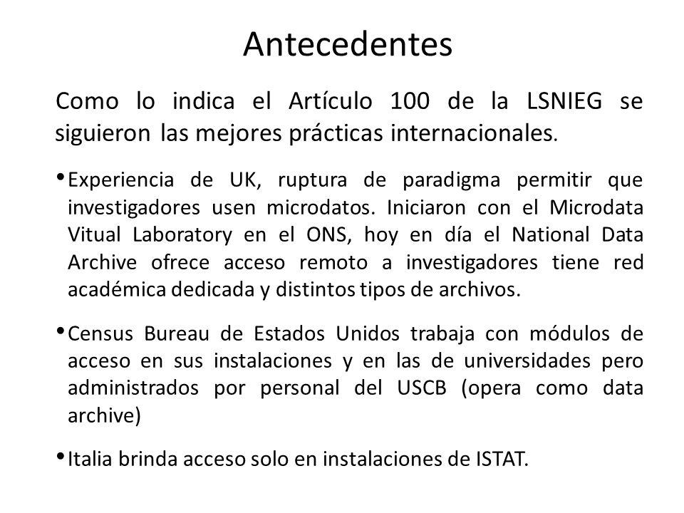Como lo indica el Artículo 100 de la LSNIEG se siguieron las mejores prácticas internacionales.