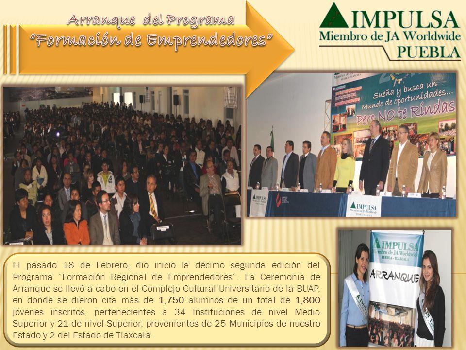 El pasado 18 de Febrero, dio inicio la décimo segunda edición del Programa Formación Regional de Emprendedores. La Ceremonia de Arranque se llevó a ca