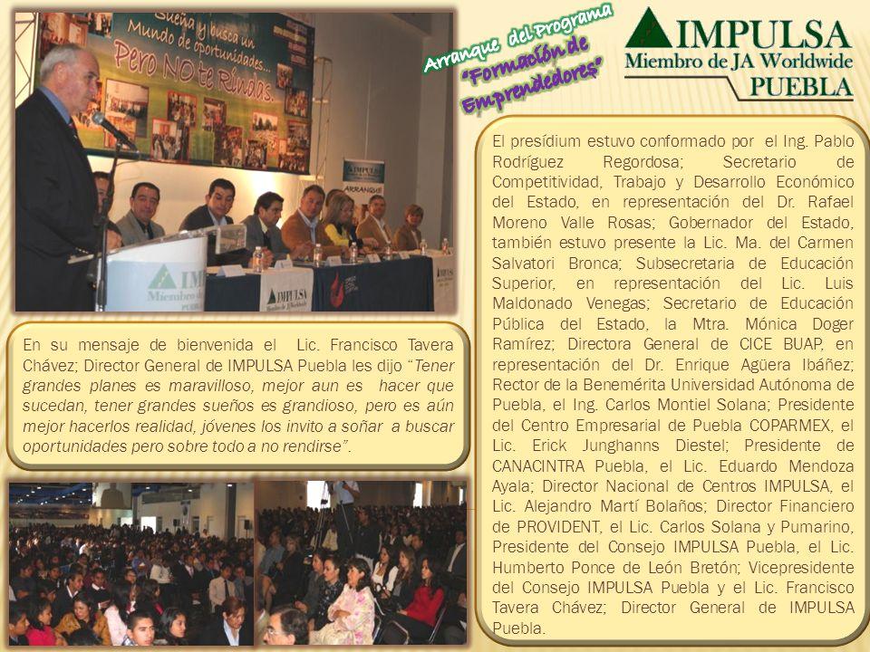 El presídium estuvo conformado por el Ing. Pablo Rodríguez Regordosa; Secretario de Competitividad, Trabajo y Desarrollo Económico del Estado, en repr