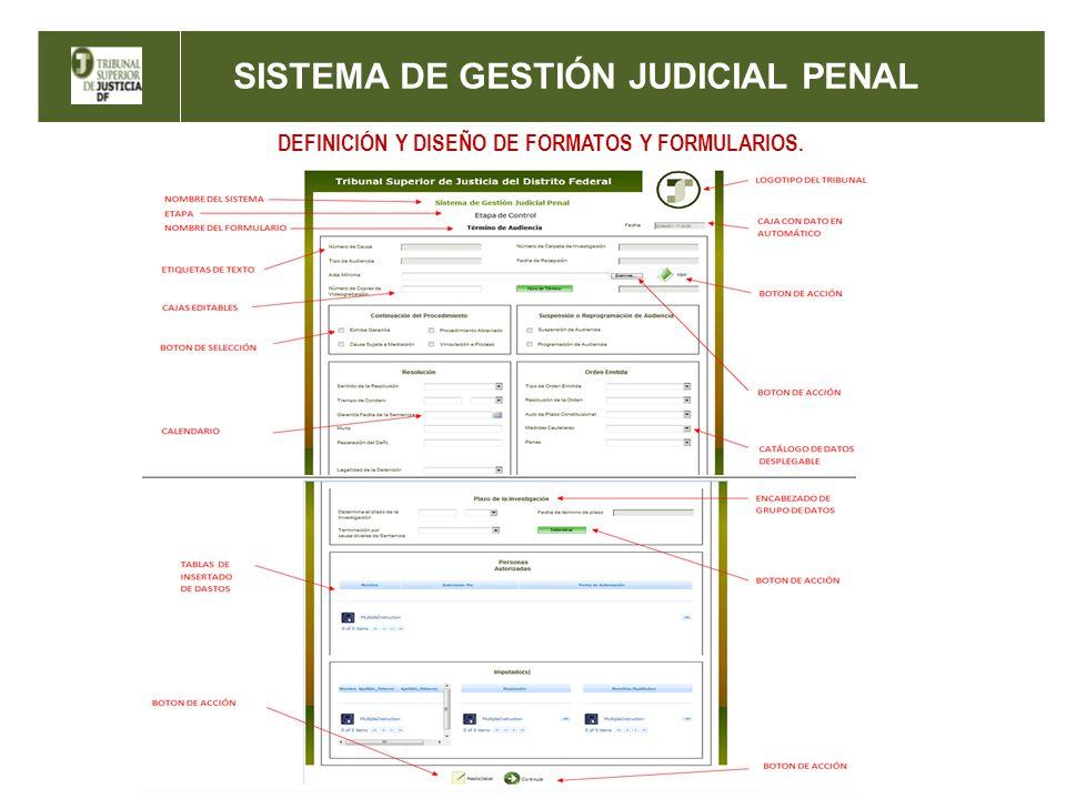 SISTEMA DE GESTIÓN JUDICIAL PENAL DEFINICIÓN Y DISEÑO DE FORMATOS Y FORMULARIOS.