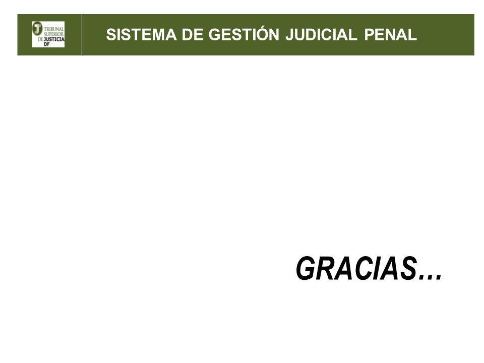 GRACIAS… SISTEMA DE GESTIÓN JUDICIAL PENAL