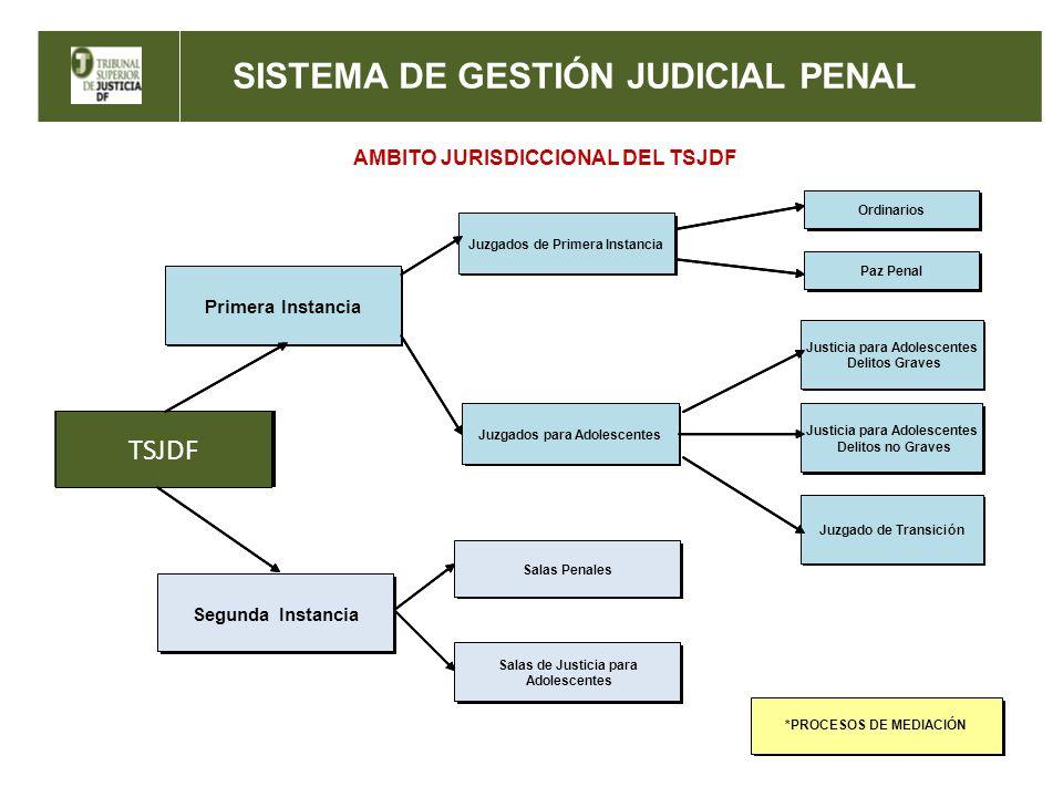 SISTEMA DE GESTIÓN JUDICIAL PENAL AMBITO JURISDICCIONAL DEL TSJDF *PROCESOS DE MEDIACIÓN *PROCESOS DE MEDIACIÓN