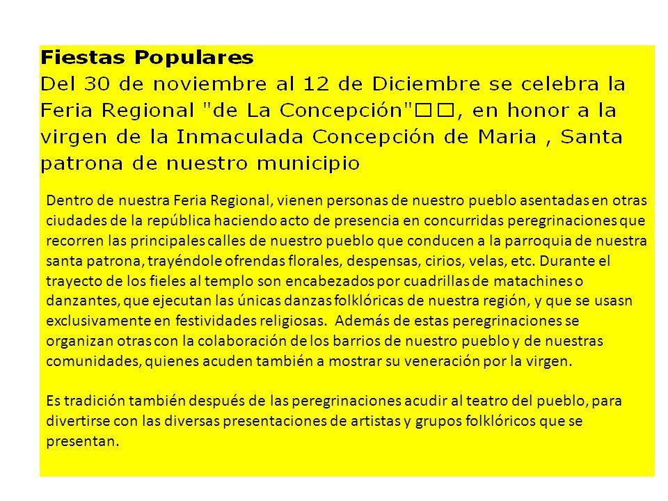 Dentro de nuestra Feria Regional, vienen personas de nuestro pueblo asentadas en otras ciudades de la república haciendo acto de presencia en concurri