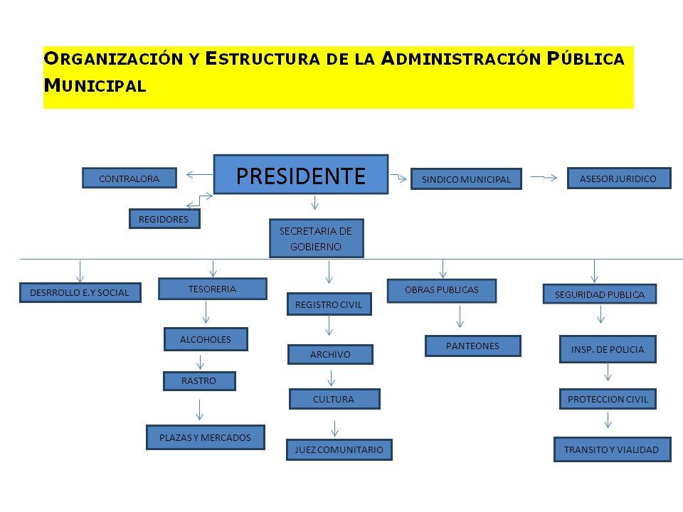 SINDICO MUNICIPAL ASESOR JURIDICO REGIDORES DESRROLLO E.Y SOCIAL REGISTRO CIVIL ARCHIVO CULTURA JUEZ COMUNITARIO INSP. DE POLICIA PROTECCION CIVIL TRA