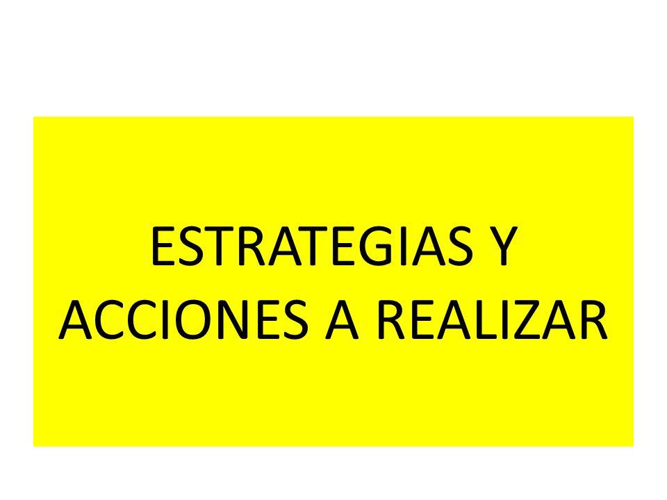 ESTRATEGIAS Y ACCIONES A REALIZAR