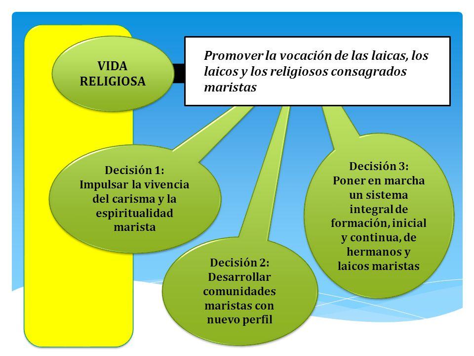 Decisión 3: Poner en marcha un sistema integral de formación, inicial y continua, de hermanos y laicos maristas Decisión 3: Poner en marcha un sistema