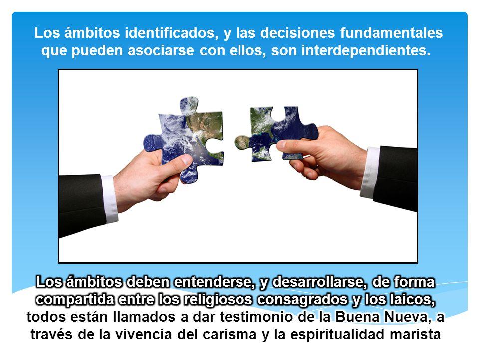 Los ámbitos identificados, y las decisiones fundamentales que pueden asociarse con ellos, son interdependientes.