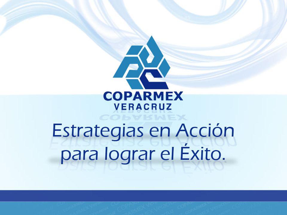 COPARMEX Veracruz agrupa a un número de 450 empresas en la zona conurbada Veracruz – Boca del Río y con una delegación en Poza Rica, Veracruz.