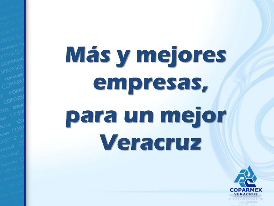 Más y mejores empresas, para un mejor Veracruz