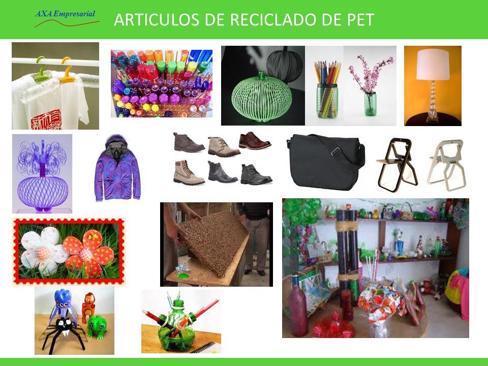 ARTICULOS DE RECICLADO DE PET AXA Empresarial