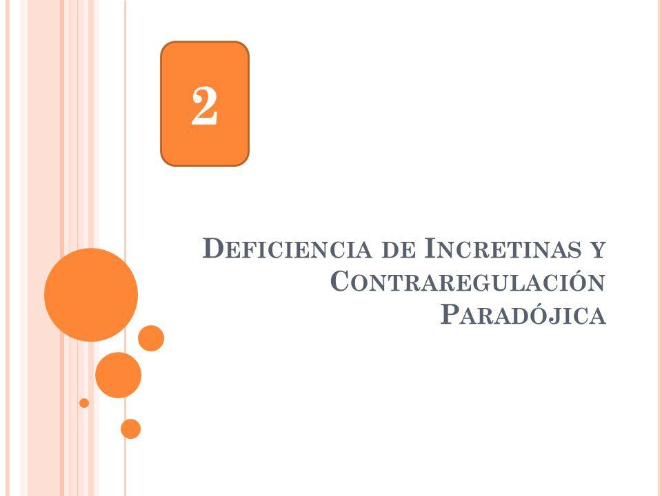 D EFICIENCIA DE I NCRETINAS Y C ONTRAREGULACIÓN P ARADÓJICA 2