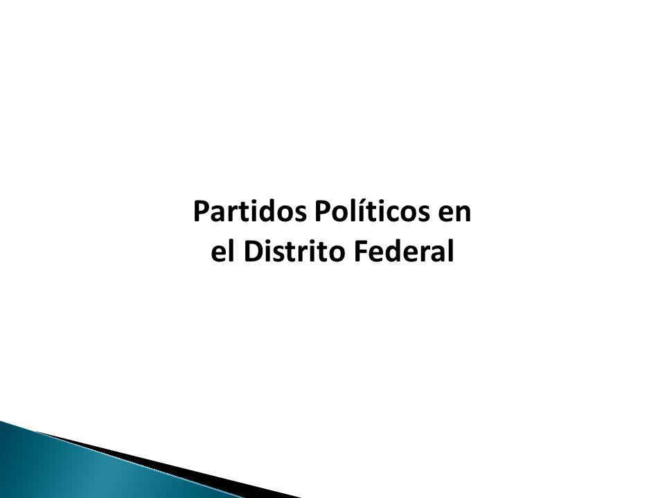 Haga clic para modificar el estilo de texto del patrón Partidos Políticos en el Distrito Federal