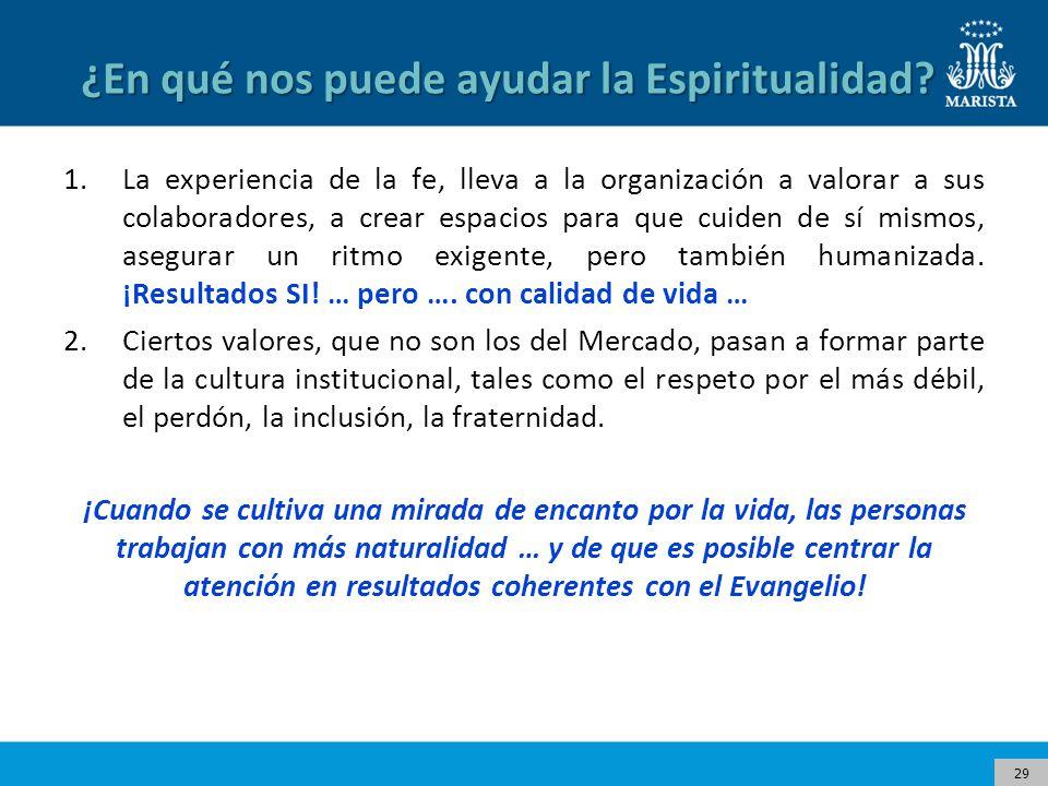 29 ¿En qué nos puede ayudar la Espiritualidad.
