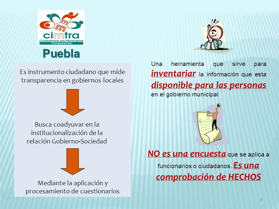 4 Una herramienta que sirve para inventariar la información que esta disponible para las personas en el gobierno municipal NO es una encuesta que se a