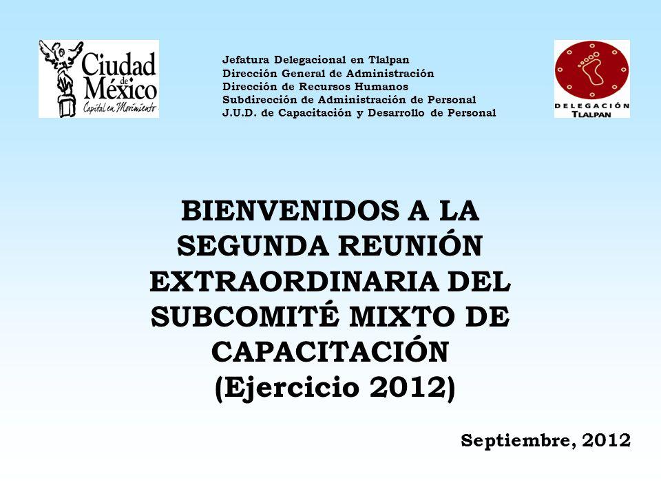 1. 1. Avances del Programa Subcomité Mixto de Capacitación Programa Anual de Capacitación 2012