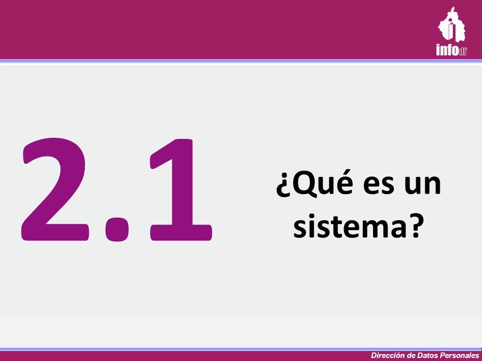 ¿Qué es un sistema? 2.1