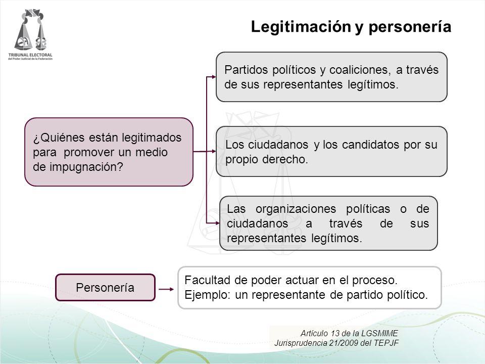 Los ciudadanos y los candidatos por su propio derecho. Partidos políticos y coaliciones, a través de sus representantes legítimos. Las organizaciones