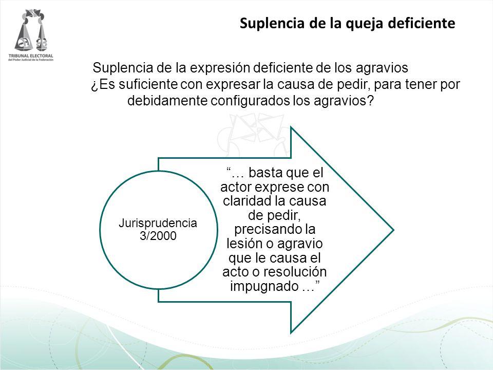 Suplencia de la expresión deficiente de los agravios ¿Es suficiente con expresar la causa de pedir, para tener por debidamente configurados los agravi