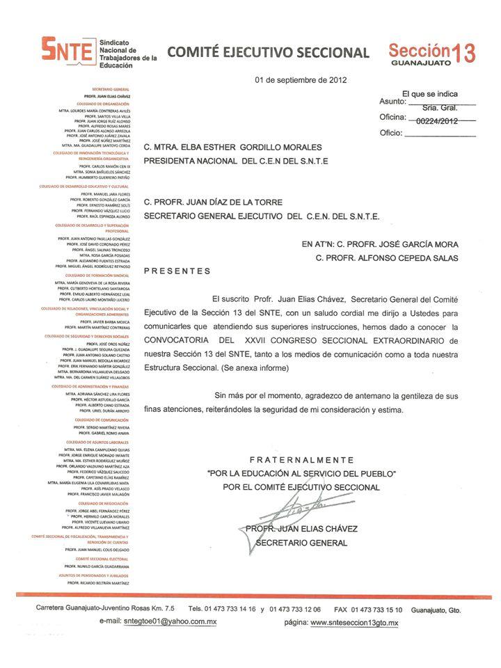 LOS PROFESORES JUAN ELÍAS CHÁVEZ, SECRETARIO GENERAL DE LA SECCIÓN 13, Y JORGE ADALBERTO VELÁZQUEZ RAMÍREZ, INTEGRANTE DEL COLEGIADO NACIONAL DE DESARROLLO Y SUPERACIÓN PROFESIONAL DEL CEN DEL SNTE, DIERON A CONOCER AL COMITÉ EJECUTIVO SECCIONAL EL CONTENIDO DE LA CONVOCATORIA