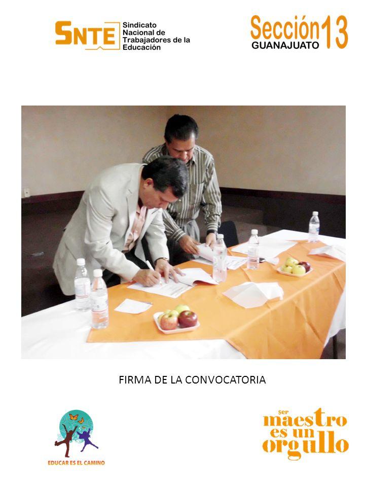 FIRMA DE LA CONVOCATORIA